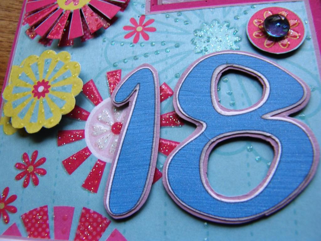 Trójwymiarowa Kartka handmade na 18 urodziny
