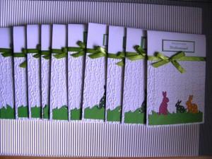 Kartki ręcznie robione na Wielkanoc z zajączkami