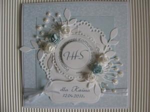 Kartka handmade z okazji Pierwszej Komunii Świętej